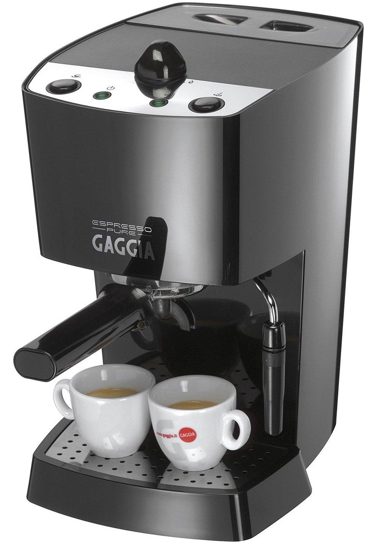 Gaggia Espresso Pure, Negro, 1100 W, 230-240V, 50Hz, 210 x 275 x 355 mm, 4500 g - Máquina de café