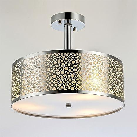 Diseño moderno LED Lámpara de techo de acero inoxidable ...