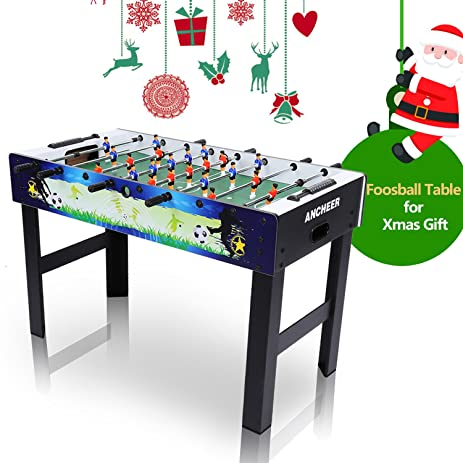 ANCHEER 48u0026quot; Foosball Table Soccer Table Arcade Game For Kids Adults