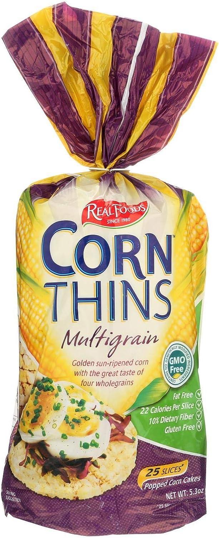 Real Foods Organic Multigrain Corn Thins, 5.3 Ounce - 6 per case.