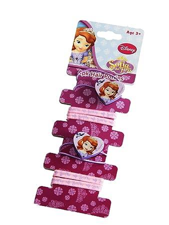 Disney Sofia Die Erste Thema Haarbander Elastisch Bommel Ponios