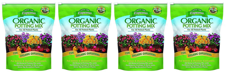 Espoma AP8 8-Quart Organic Potting Mix (4 Pack) by Espoma