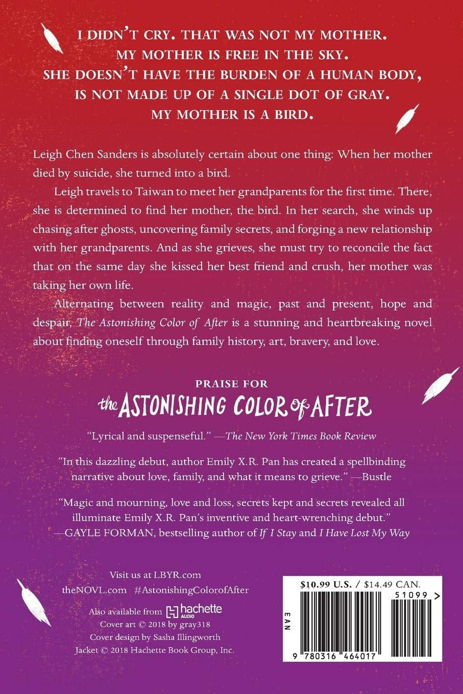 Amazon Com The Astonishing Color Of After 9780316464017 Pan Emily X R Books