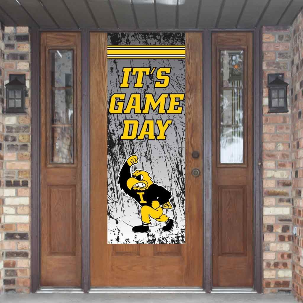VictoryStore Yard Sign Outdoor Lawn Decorations: Iowa Game Day Banner Iowa Hawkeyes Door Banner Vinyl by VictoryStore (Image #1)