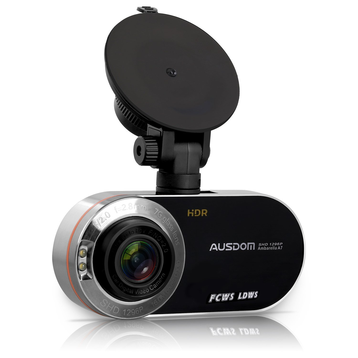 """AUSDOM AD260 2.7"""" LCD Dash Cam FHD 1080P&1296P Dashboard Camera Car Camera with HDR, WDR, G-Sensor, Motion Detection, Parking Monitor"""