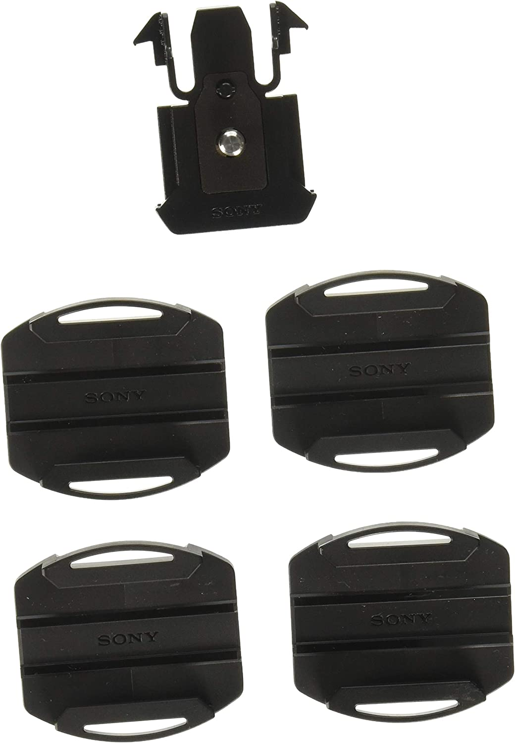 2 Curved Mounts 2 Flat Adhesives Kit For Sony Action Cam VCT-AM1 Video Camera