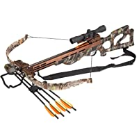 SA Sports Compound Crossbow Package with 4x32 Scope and Bolts, Camouflage