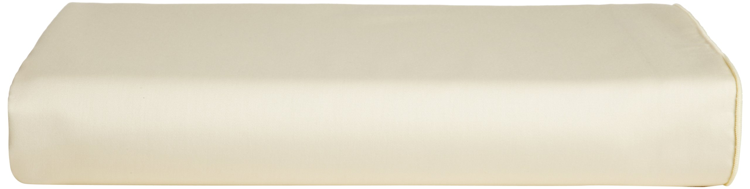 Calvin Klein Home Luminous Pearl Edge Solid Sateen Fitted Sheet, King