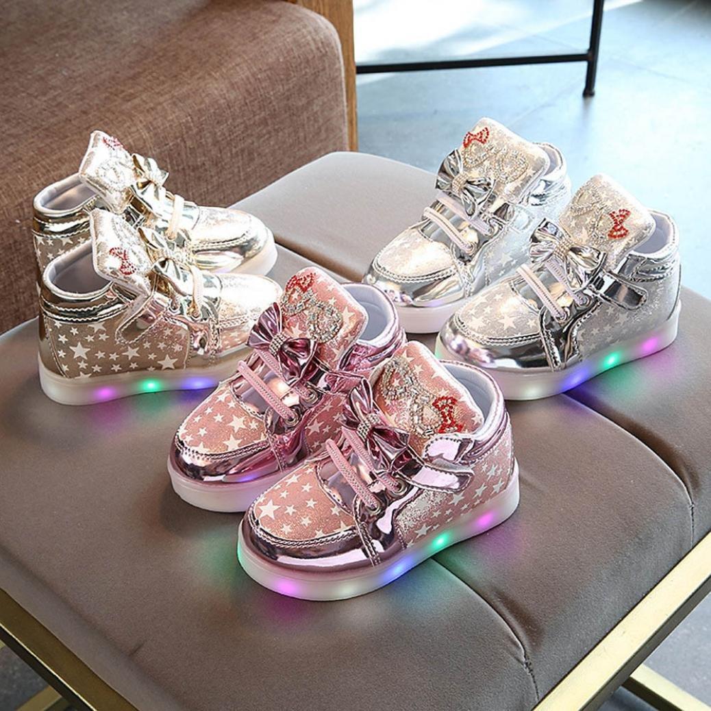 Zapatillas niños, JiaMeng Zapatos Zapatillas de luz de Colores para BebšŠs Zapatillas de Deporte Transpirables Antideslizante para niños: Amazon.es: Ropa y ...
