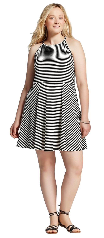 e7297249ab92b8 Mossimo Women's Striped Tank Jersey Dress at Amazon Women's Clothing store: