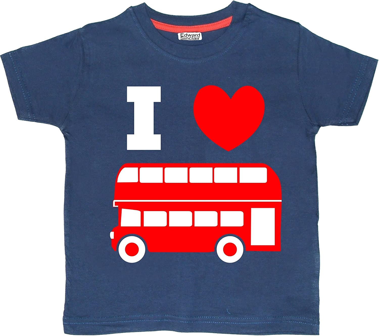FREE P/&P NEW PERSONALISED DOUBLE DECKER BUS T-SHIRT KIDS BOYS-GIRLS OF ALL AGES