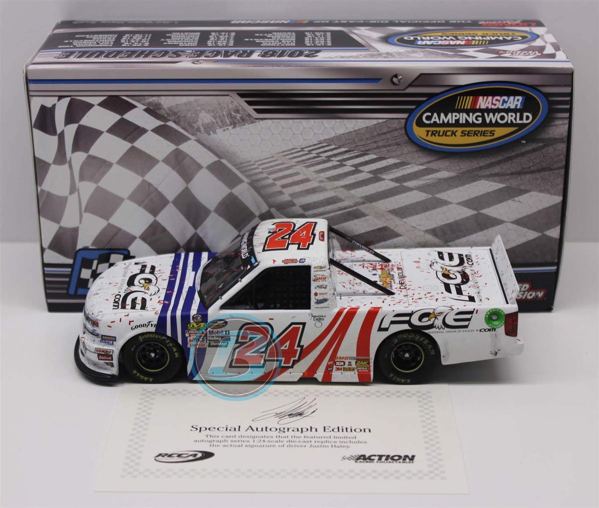 Lionel Racing Justin Haley Autographed 2018 Chevrolet Fraternal Order of Eagles/St. Louis Win 1:24
