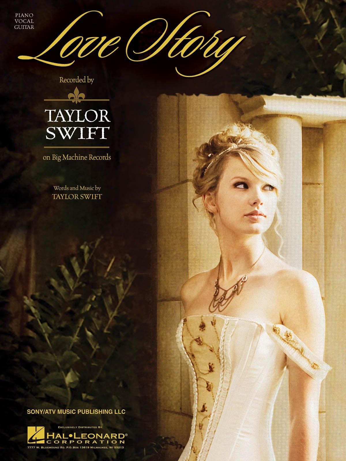 Love Story Taylor Swift Piano Vocal Guitar Sheet Music Amazon Com Books