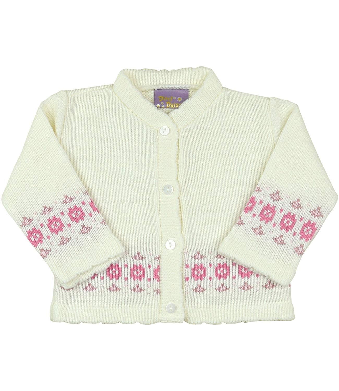 BabyPrem Baby Cardigan Jacket Girl Pink Flower Soft Knitted 0-12 Months
