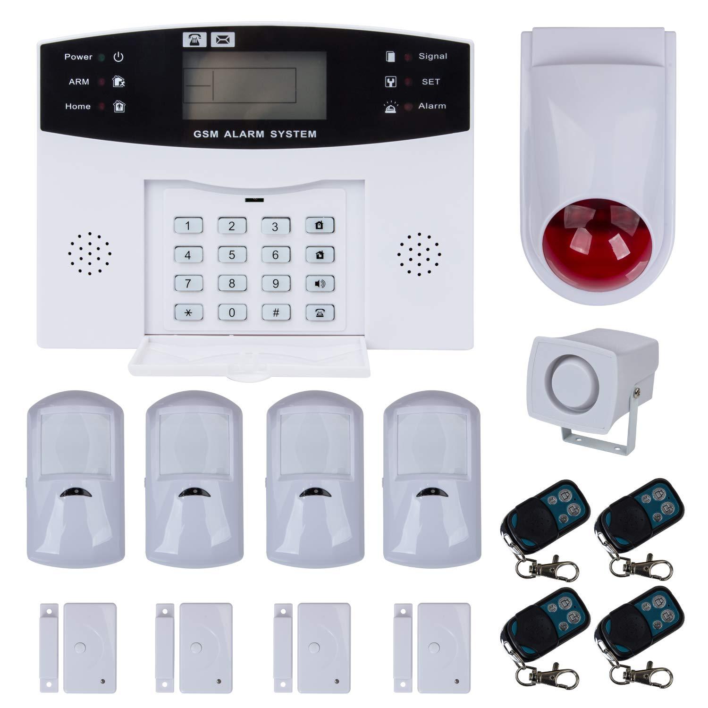 Teléfono con pantalla LCD Alarma Alarma Detector de movimiento ...