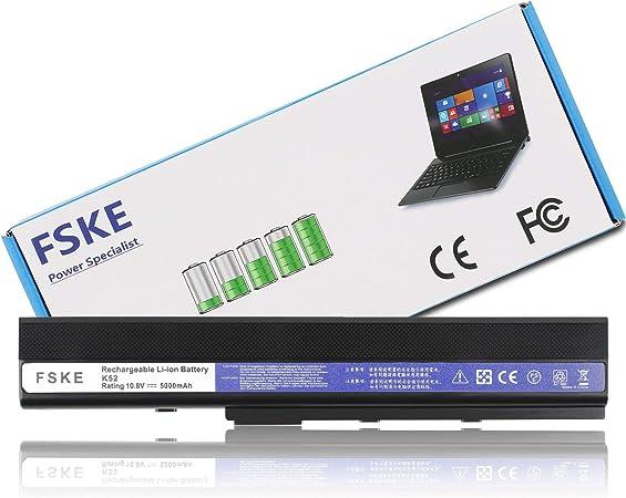 Image of FSKE® A32-K52 A31-K52 A42-K52 A31-B53 Batteria para ASUS K52 A52J A52F A52 K42 X42 Serie Notebook Battery, 6-Celle 10.8V 5000mAh