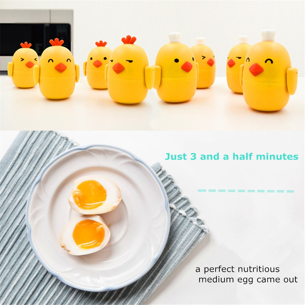Microwave Egg Boiler Steamer Poacher Cooker with Free Egg White Yolk Separator for Home Kitchen Office School(Cute Chef) Fworld