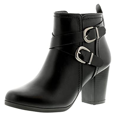 b1e210ad6 Platino Tammy Womens Ladies Ankle Boots Black - Black - UK Sizes 3-8 ...