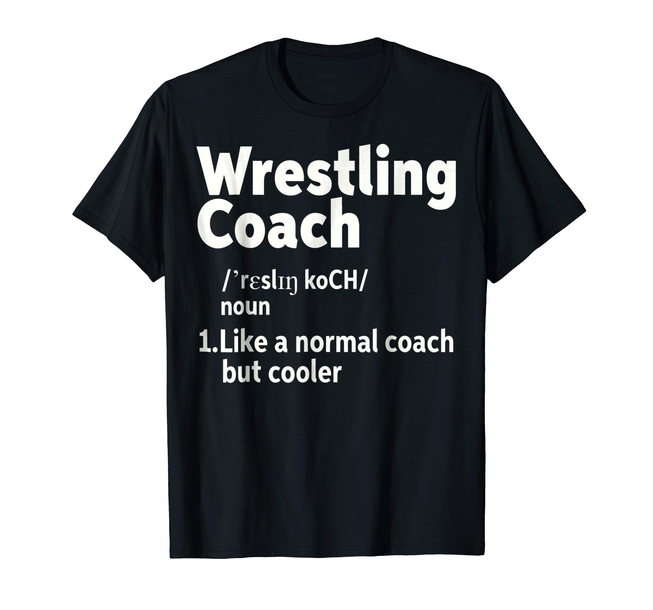 Mens Wrestling Coach Definition T-Shirt XL Black