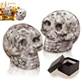 Palksky Whiskey Stones-Hand Carved Skull Bone Chill Rocks Whiskey Stones for Whiske 100% Natural Pure Granite for…