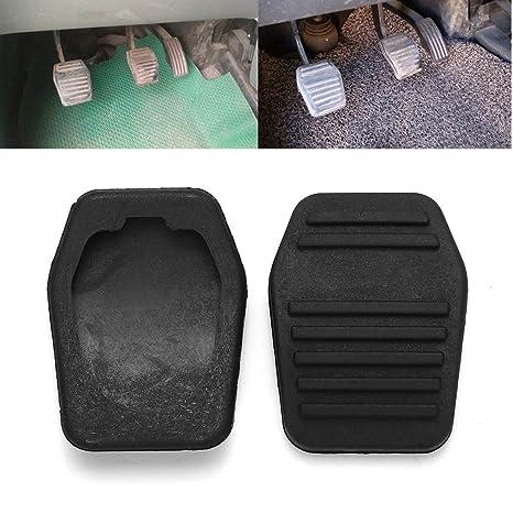 YONGYAO 2Pcs De Goma Antideslizante Coche Pedal Pad Brake & Embrague Protector Cubierta para Ford Transit