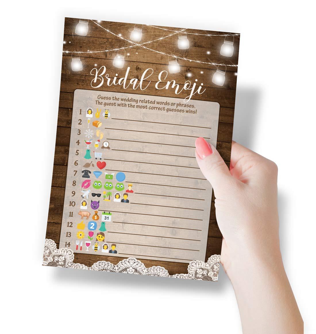 Amazon Rustic Emoji Bridal Shower Game