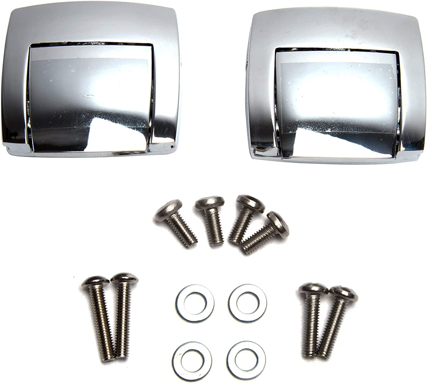 2x Chrome Latches Tour Pack Pak For Harley Classic Electra Glide Ultra 1988-2013