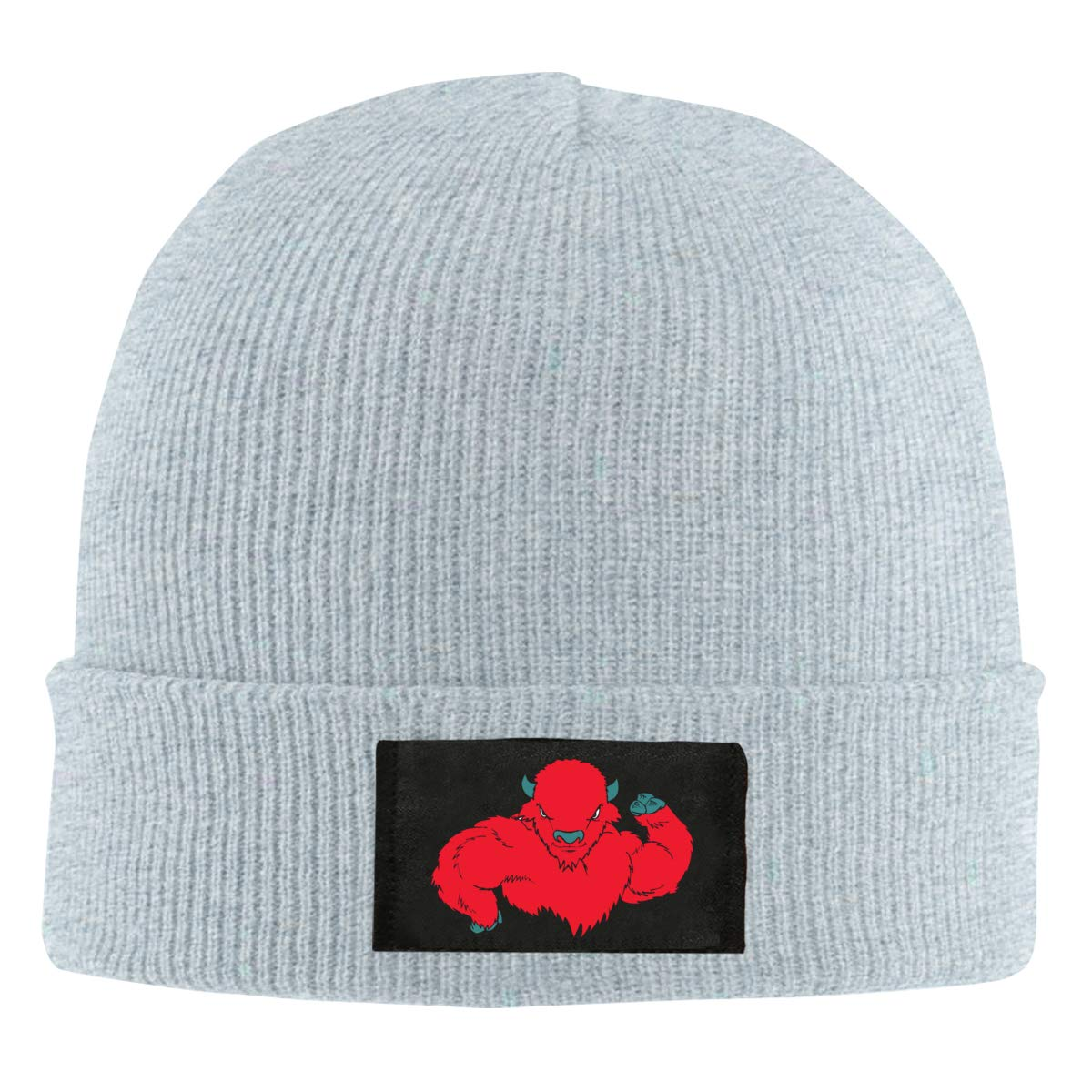 Amazon.com  Red Muscle Buffalo Wool Knit Hat Beanie Caps Unisex Slouchy  Winter  Clothing d7e38a47a