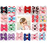Ezepeo 40 pcs 1.8 Inches Baby Girls Ribbon Hair Bow Clips Printed Pattern Barrettes Hairpins Hair Accessories for Girl…