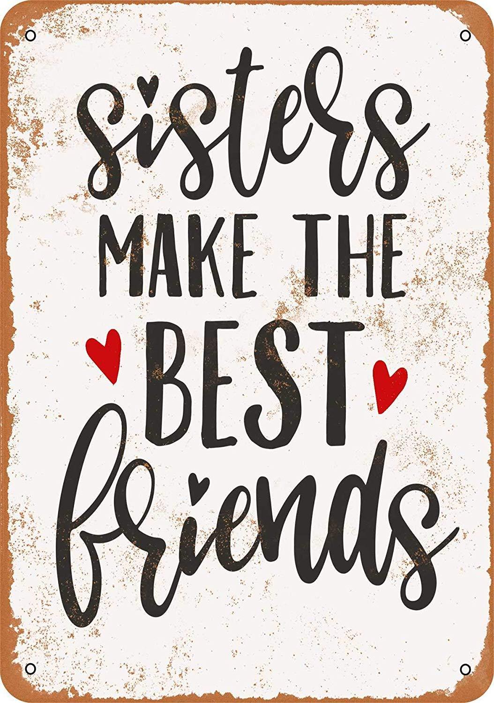 HiSign Sisters Make The Best Friends Retro Cartel de Chapa ...