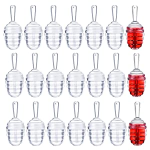 AIRERA 21 Pieces 5.5ML Honecomb Shaped Lip Gloss Tubes with Wand Clear Empty Lipgloss Containers Funny Lip Balm Bottle Dispenser with Rubber for DIY Lipstick Cosmetic Sample(Clear)