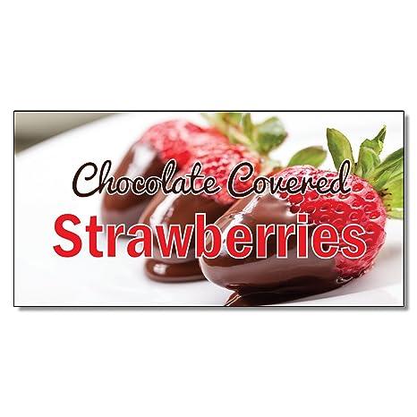 Amazon.com: Fresas cubiertas de chocolate restaurante café ...