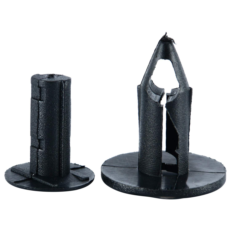 1 Plastic Fastener Remover Fastener Rivet Clips 100pc UTV Plastic Fender Clips Body Rivets Auto Body Clips 8mm