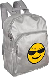 Olivia Miller Emoji Backpack - silver, one size