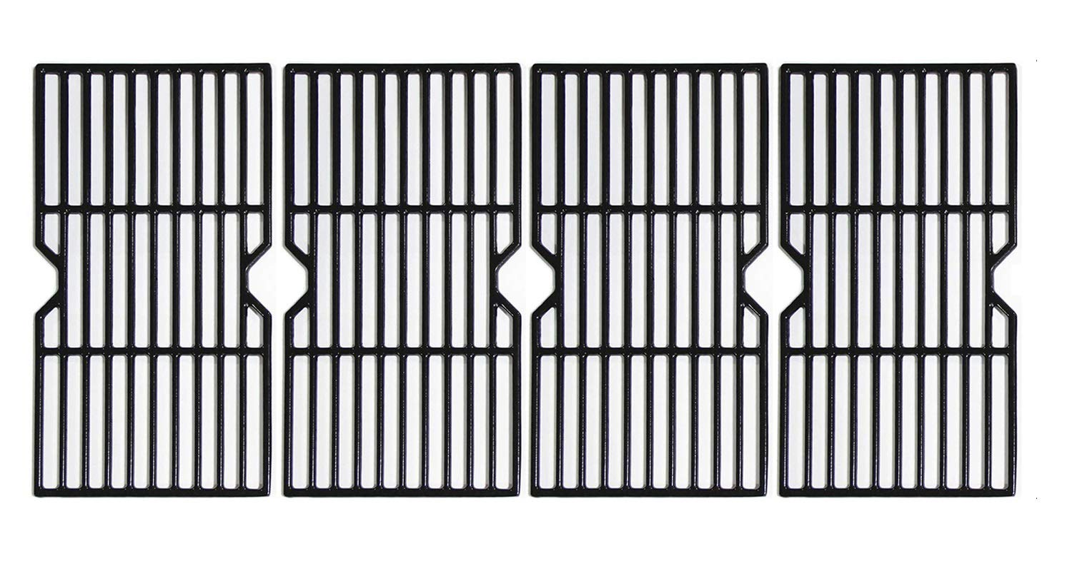 Hongso 16 7/8'' Porcelain Enamel Cast Iron Cooking Grates Grill Grids Replacement for Gas Grill Charbroil 463230510, 463230511, 463230512, 463230513, 463230514, 463230710, 463234511, Kenmore, PCH764 by Hongso