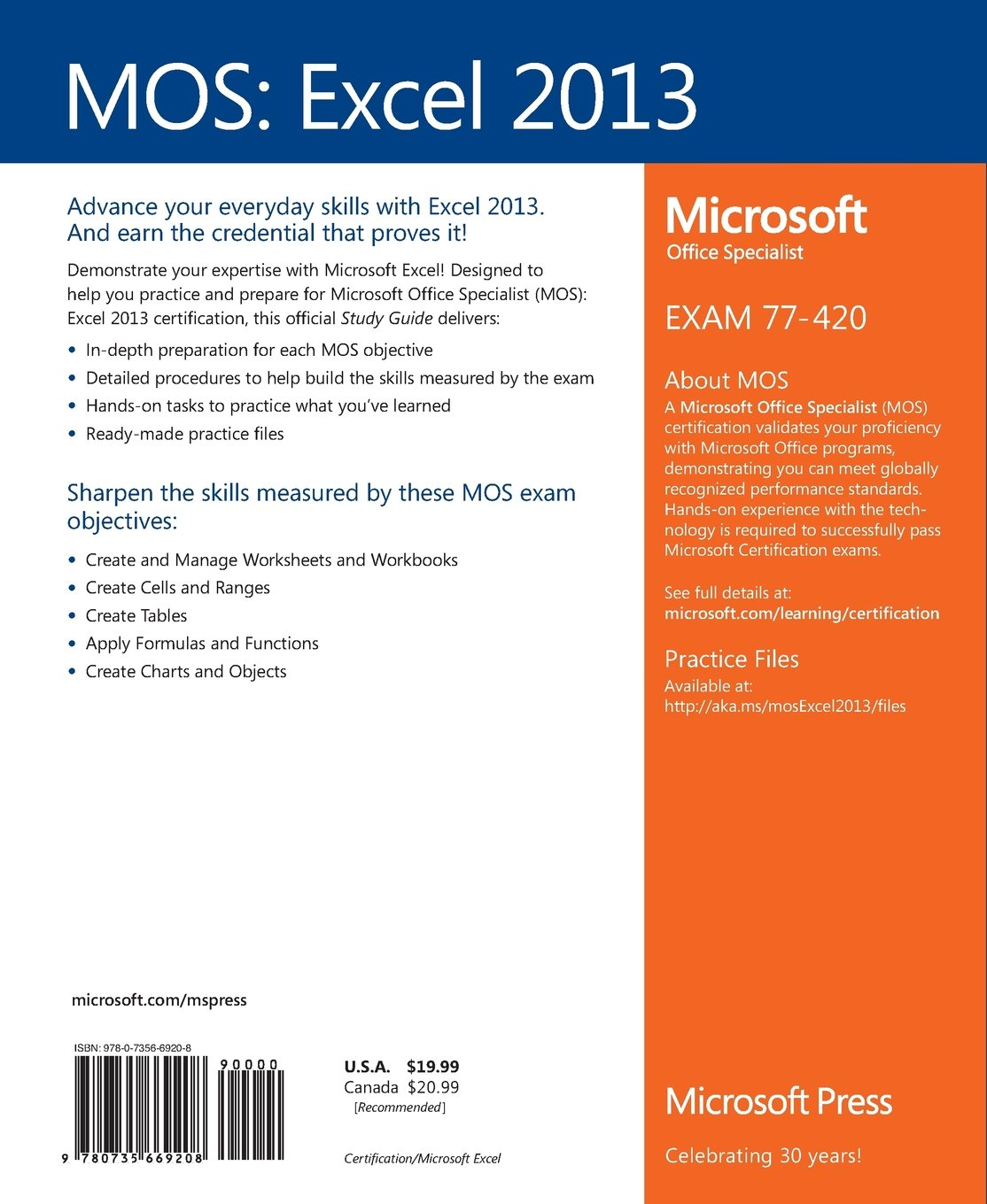 Mos 2013 study guide for microsoft excel amazon joan mos 2013 study guide for microsoft excel amazon joan lambert 9780735669208 books xflitez Image collections
