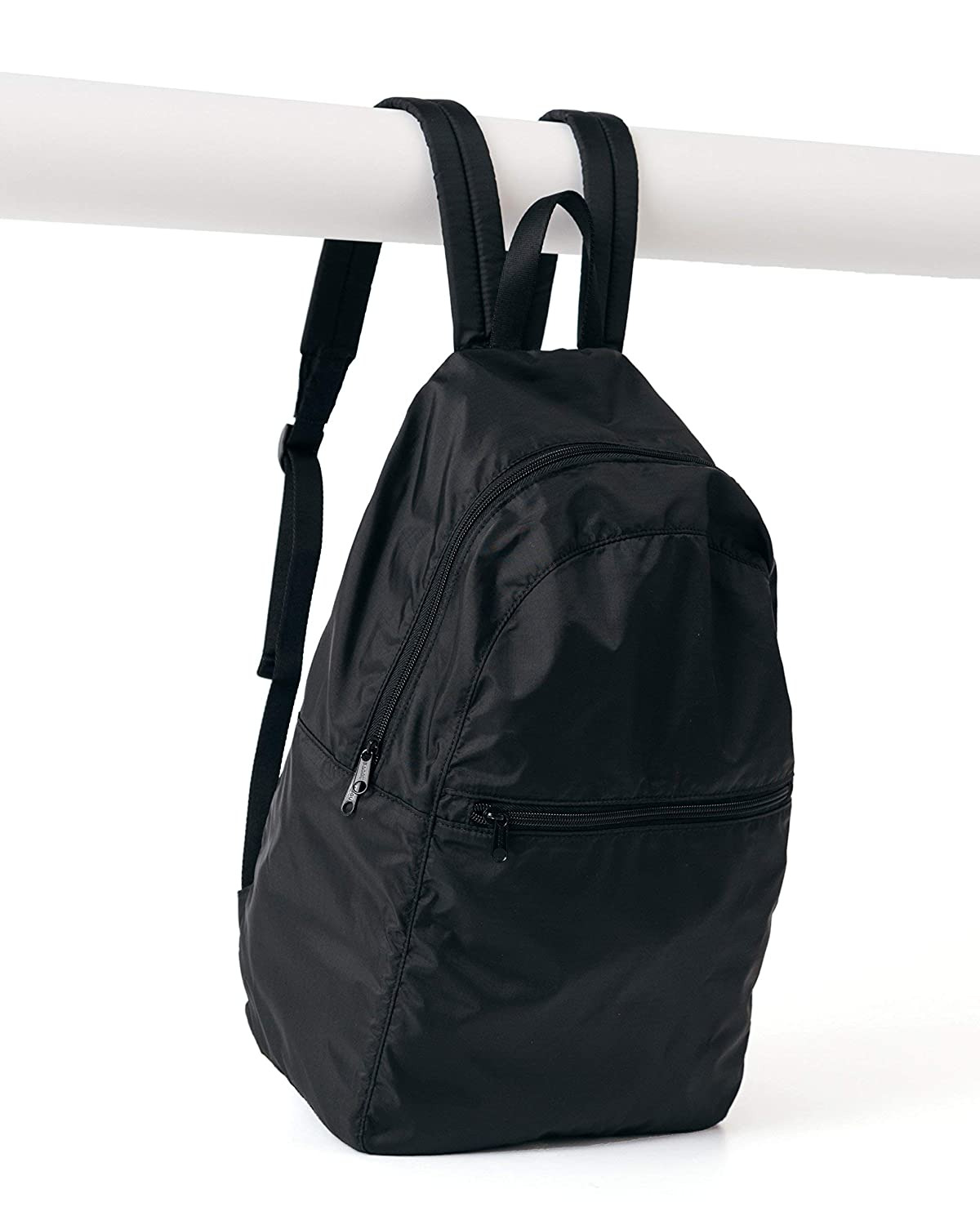 Ripstop Nylon Backpack, Lightweight Packable Backpack Ideal for Travel or the Gym, Black [並行輸入品] B07R4TKLCZ