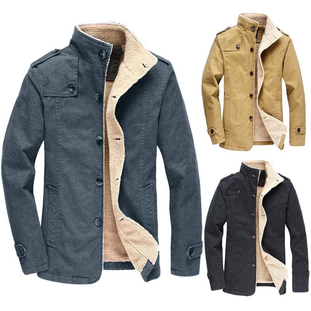 Amazon.com: YKARITIANNA Mens Gental Button Down Jackets ...