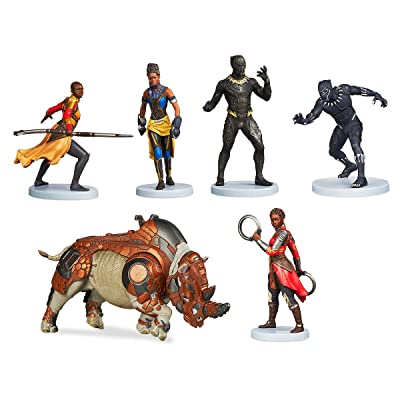 Disney Marvel Comics Black Panther 6 Piece Figure Play Set: Toys & Games