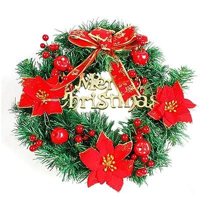 convinced front door decorartificial flowersoutdoor wreath diy merry christmas wreath 40cm garland - Christmas Front Door Decorations Diy