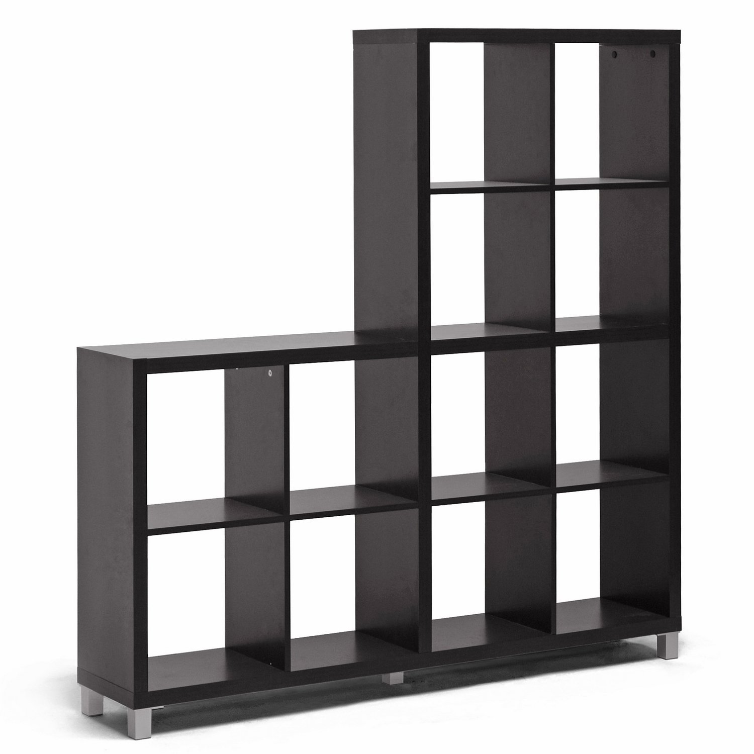 Amazon.com: Baxton Studio Sunna Modern Cube Shelving Unit, Dark Brown:  Kitchen & Dining
