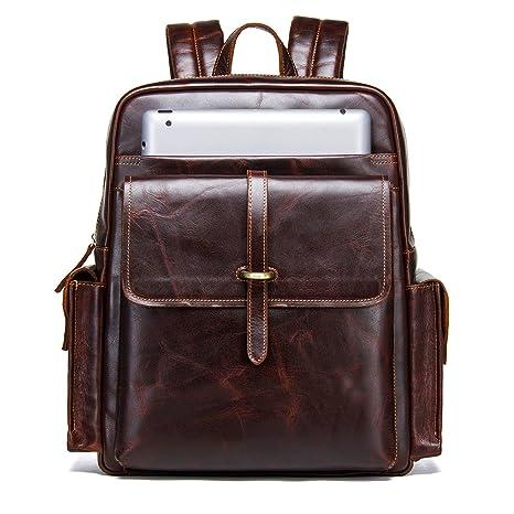 cb1da9ae6c 'Contacts vero cuoio zaino vintage College schultasche viaggio Daypack Con  14 MacBook Laptop, caffè