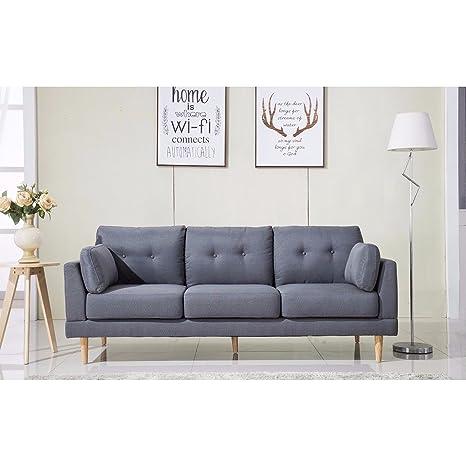Amazon.com: Mediados de siglo modernos Ultra Plush sofá tela ...