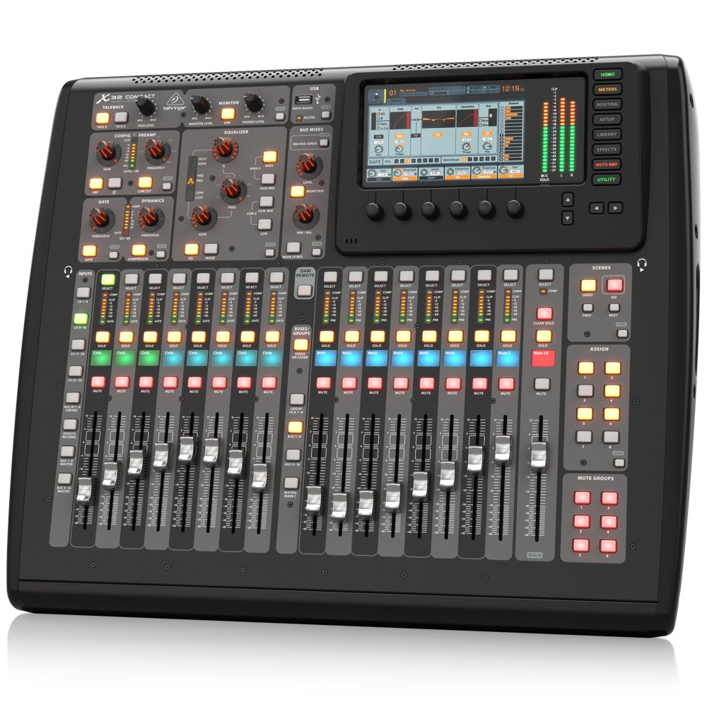 front facing Behringer X-32 DJ Mixer