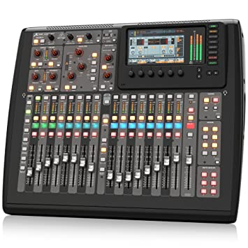 BEHRINGER, X-32 Compact 40-Input 25-Bus Digital Mixing Console with 16  Programmable Midas Preamps Black (X32COMPACT)