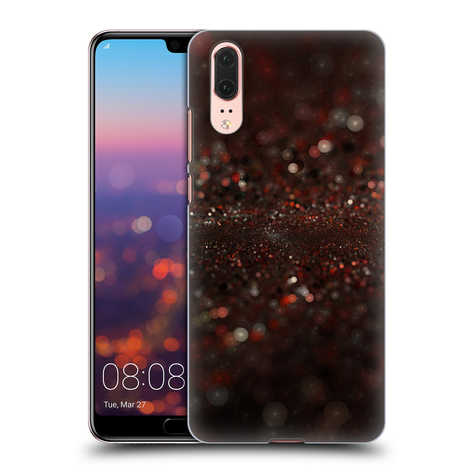 Official Andi Greyscale Spilled Glitter Solar Bokeh Hard Back Case for Huawei P20