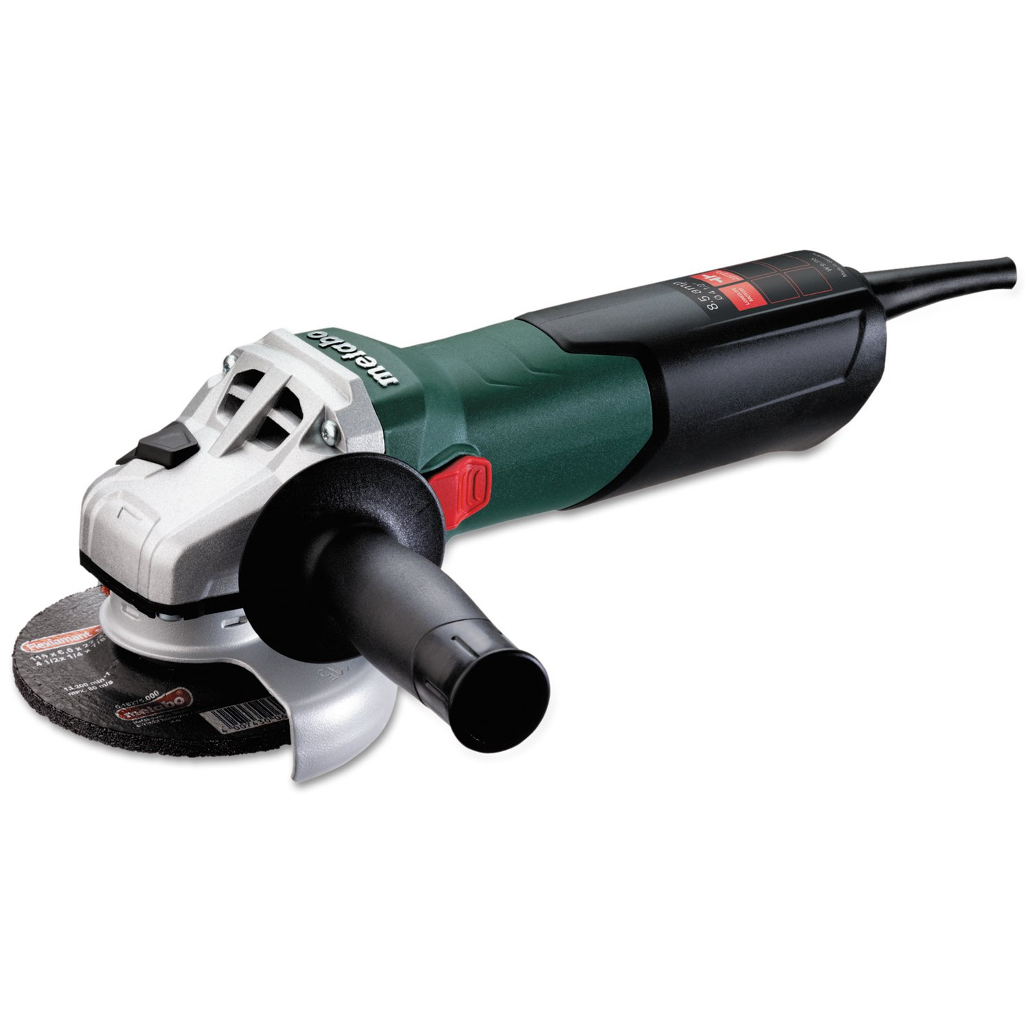 Metabo W9-115 8.5 Amp 10,500 rpm Angle Grinder with Lock-On Sliding Switch, 4-1/2''
