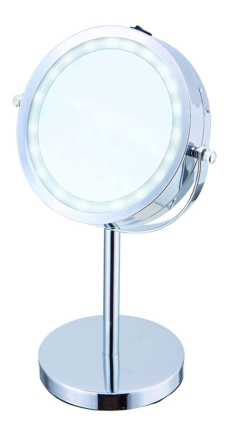 Elle Vanity Light Up Mirror with LED Light and 3X Magnification for Applying Makeup, Cosmetics and Skincare