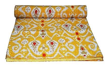 Copriletto Matrimoniale Fatto A Mano.Textile Treasure Kantha Indiano Trapunta Copriletto Copriletto