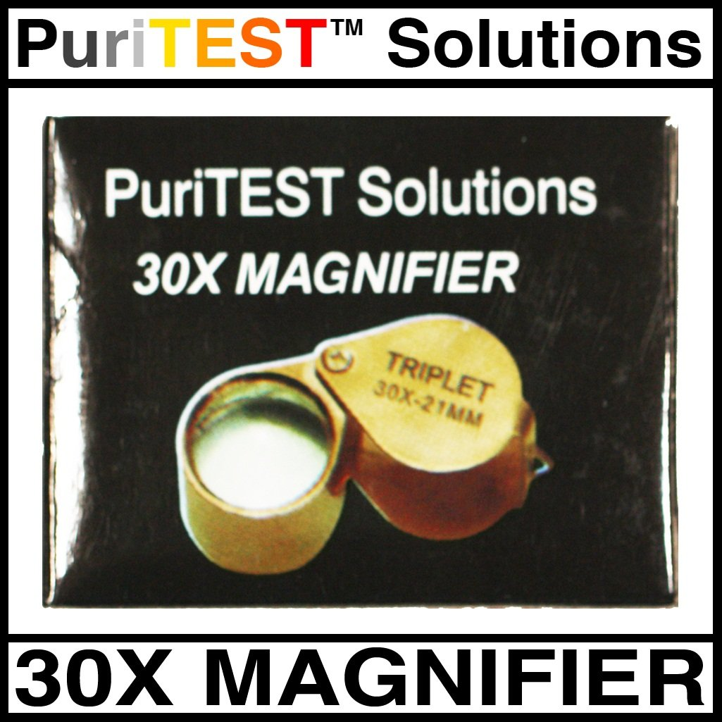 PuriTEST Jeweler's Diamond Testing Pieces-Professional Loupe and Genuine Electronic Diamond Tester Machine A10 + A90 - Jewelry Gems
